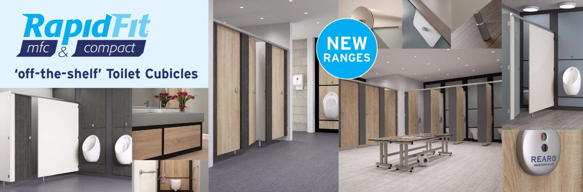 Rapidfit 'off the shelf' Toilet Cubicles